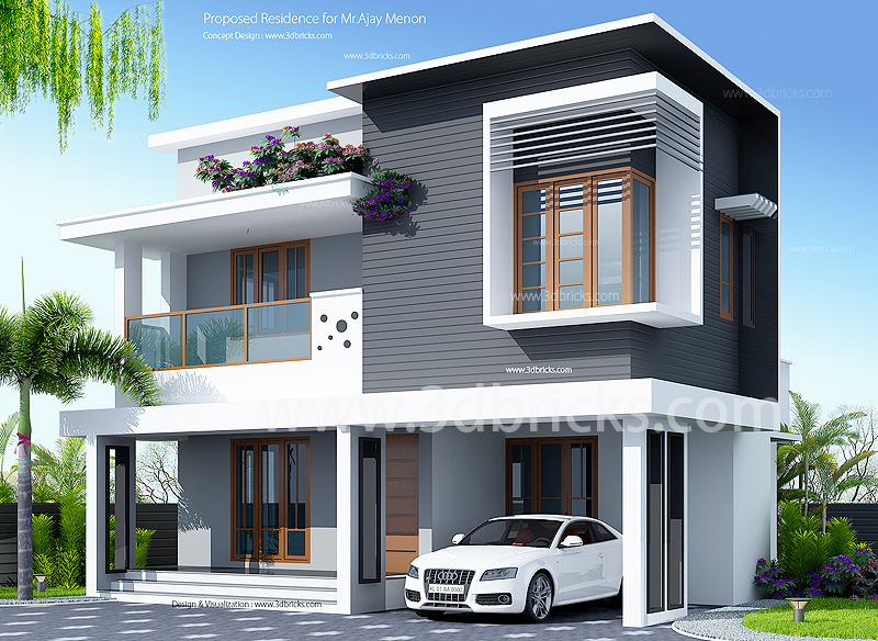 Modern House plans between 1000 and 1500 square feet