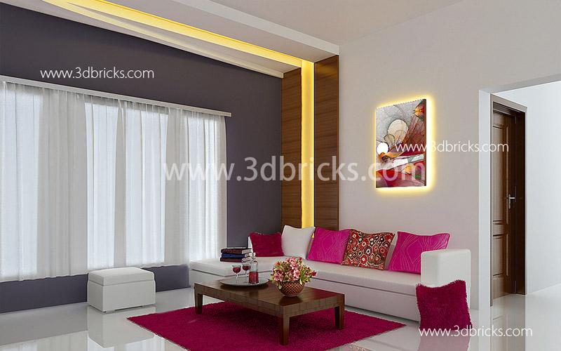 Minimalistc Design 3DBricks Intersting Interior