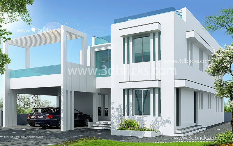 Minimalistic House Design 3d Elevations Small House
