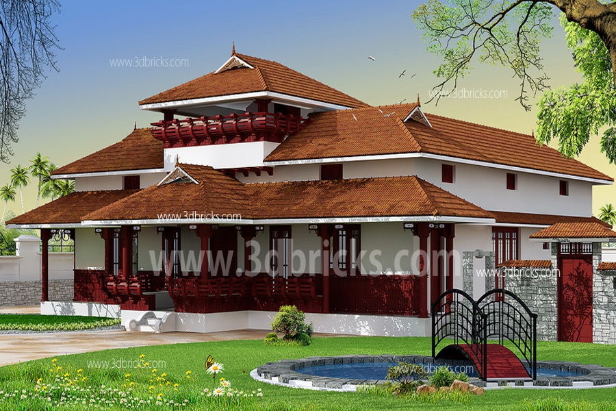 Traditional Kerala Nalukettu Home Plans