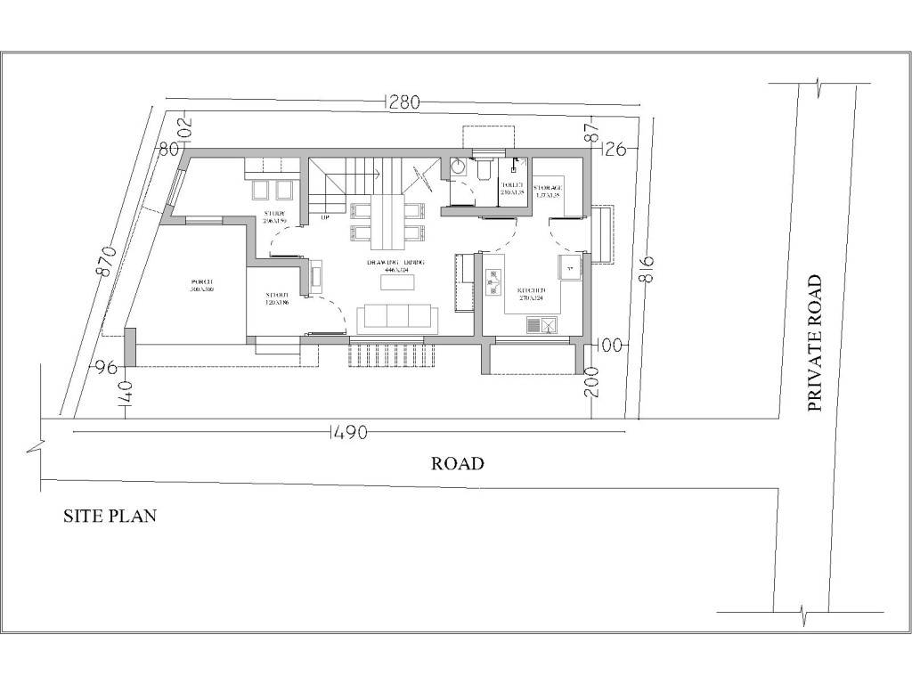 Top architect trivandrum for Home site plan