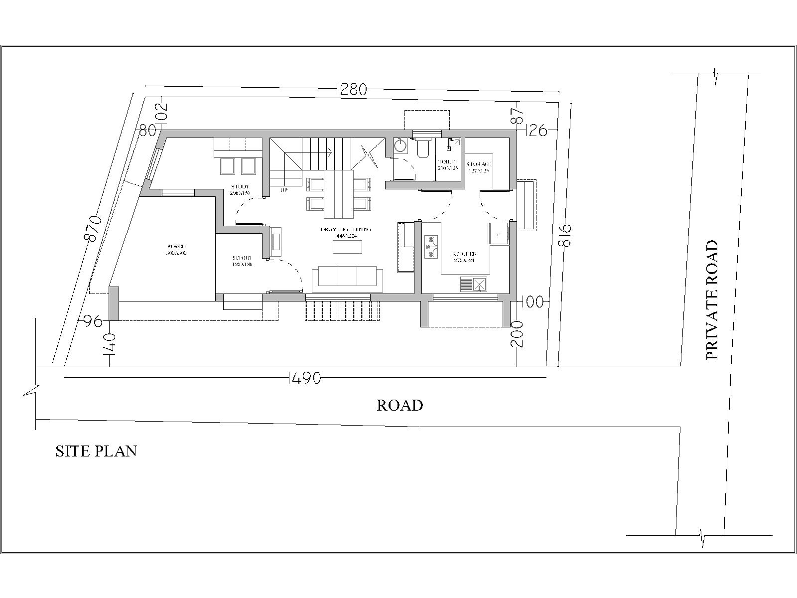 Top architect trivandrum for House site plan