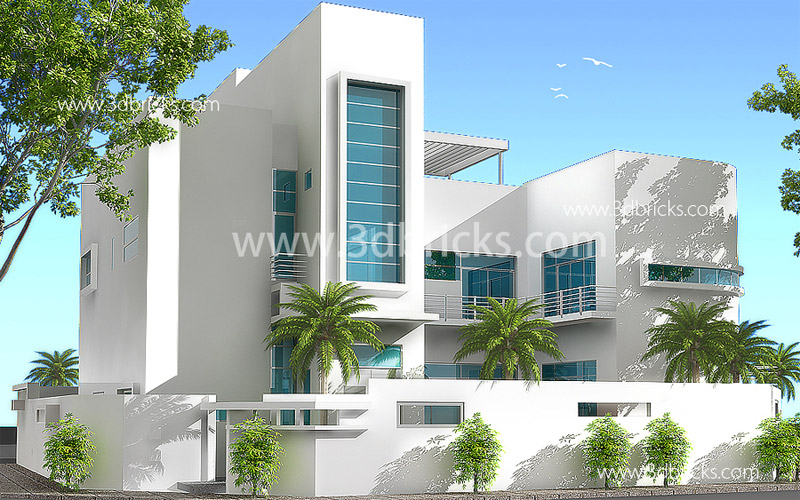Amazing Minimalist Elevation. Consultancy Trivandrum; Residential Architect;  Trivandrum Designer