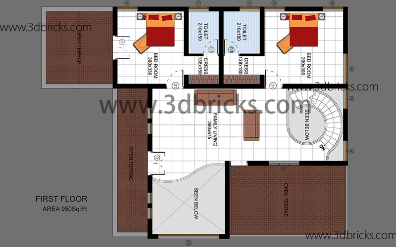Famous architects in trivandrum 3d bricks case studies for Veedu plan and elevation